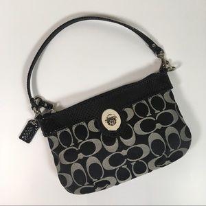 Coach Black Mini Monogram Handbag